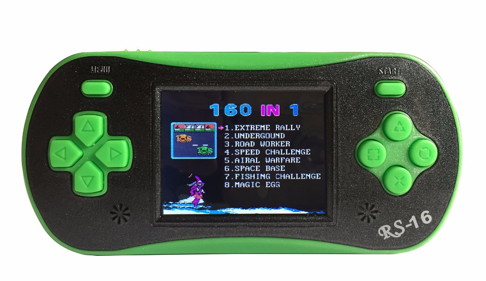 "2.5"" Built in 260 Retro Game Handheld Video Game Console Player with Screwdriver for Children RS-16 (Green)"