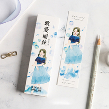 30pcs/box Kawaii girl Bookmarks Stationery Gift Realistic Cartoon Office School label Supply
