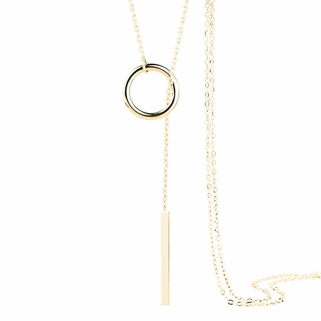ファッションネックレス女性ゴールドシルバートレンディジュエリー銅チョーカー多層ペンダントのギフト自由奔放に生きる