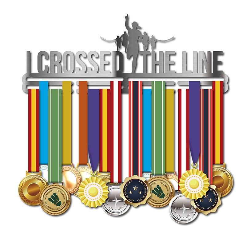 Le support de médaille de Sport pour le support d'affichage de médaille de Marathon de fille le support de médaille d'acier inoxydable tiennent 32 ~ 45 médailles