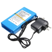 DC 122000 12V 20Ah Lithium Battery Rechargeable 20000mah High Capacity Battery Pack Monitor Motor LED Lights with EU/US