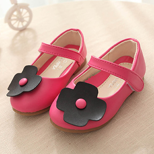2017 Fashion Flower Kids Ballet Shoes Kids Girls Flower Flats Shoes Fashion Ankle Strap Children's Flats Shoes Zapatos Ninas