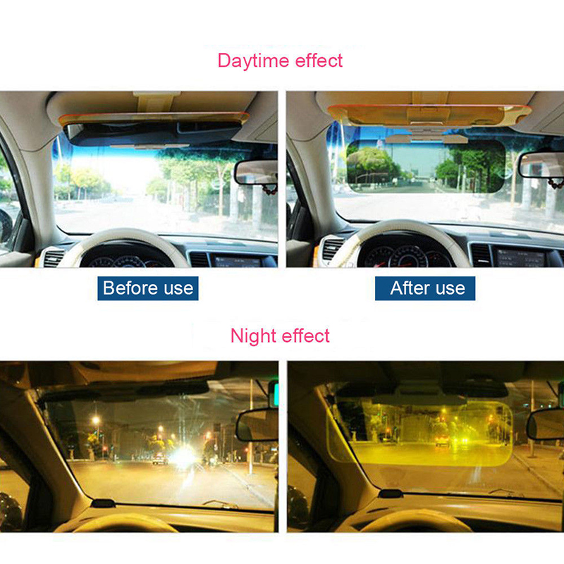 Car Sun Visor HD Anti Sunlight Dazzling Goggle Day Night Vision Driving Mirror UV Fold Flip Down Clear View 115~190mm CD Board