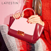LA FESTIN Designer Handbag Luxury Patchwork cow Leather Bag 2018 Fashion Lady Tote Bags Shoulder Bag bolsa