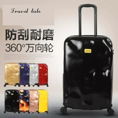 Travel tale fashion personality meteorites ABS+PC 20/24/28 inch suitcase carry on spinner customs lock wheel Travel Luggage