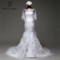 Poemssongs Réel photo un Châle et orangza sirène Robes De Mariée robes de noiva robe de mariage robe de mariée robes de mariée