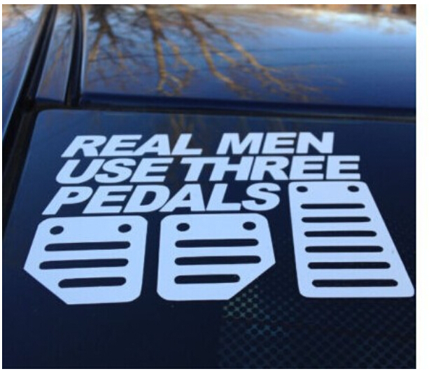 Real men use three pedals car window stickers decals truck bumper stickers in mens costumes from novelty special use on aliexpress com alibaba group