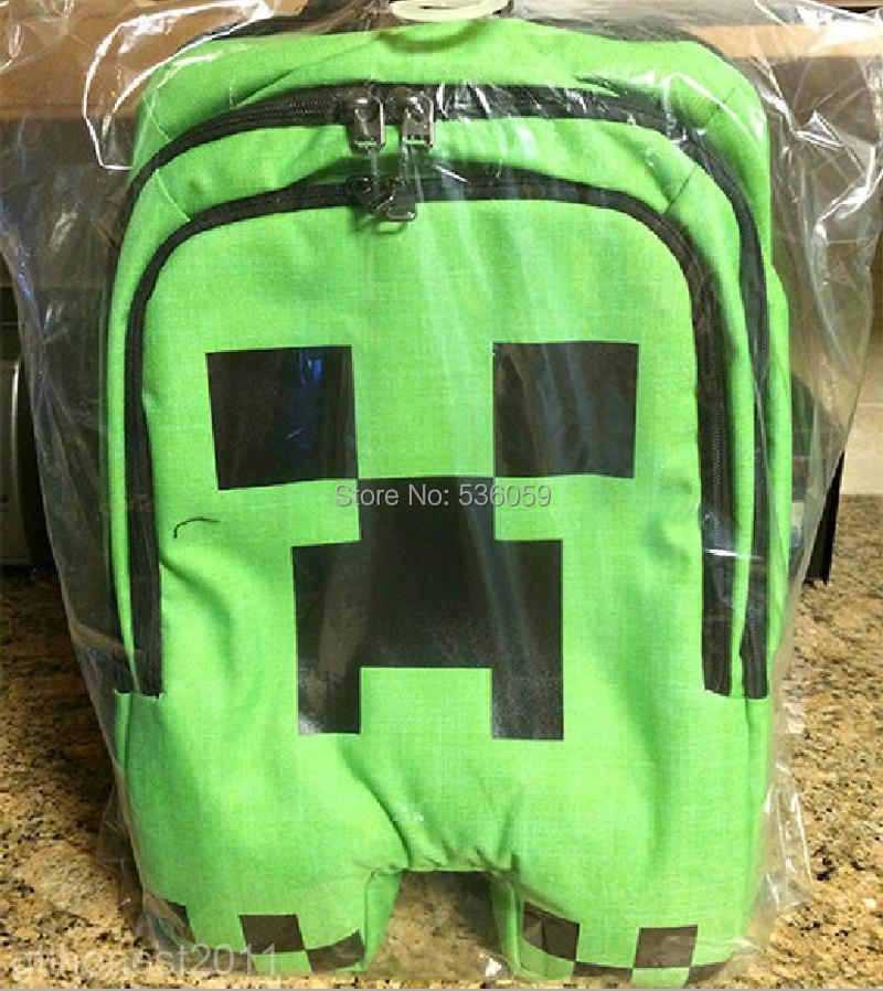 6afc048480 2015 New High Quality Minecraft Bag Minecraft Creeper Backpack School Bag  Waterproof Book Bag Sports Storage Boys Kids Bags-in Backpacks from Luggage    Bags ...