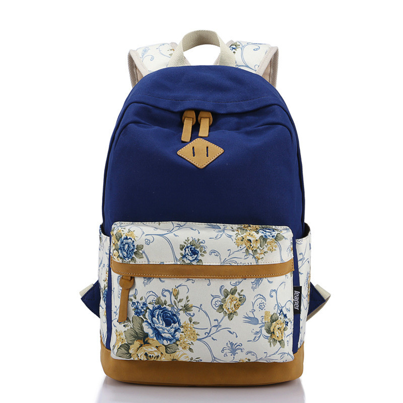 Canvas Floral Printing Satchel Rucksack Backpacks School Bags For Teenage Girls Women Printing Backpack School Mochila Escolar graffiti canvas backpack students school bag for teenage girls boys backpacks bags cartoon printing rucksack street escolar 1065