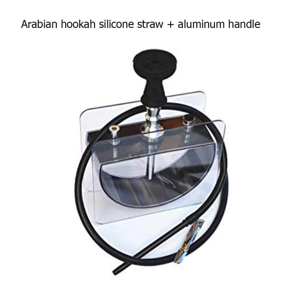 Nuovo 1.8M Arabian Narghilè Silicone di Paglia In Lega di Alluminio Tubo con Molla Maniglia Tubo Narghilè Shisha Accessori Brasile Spagna Francia