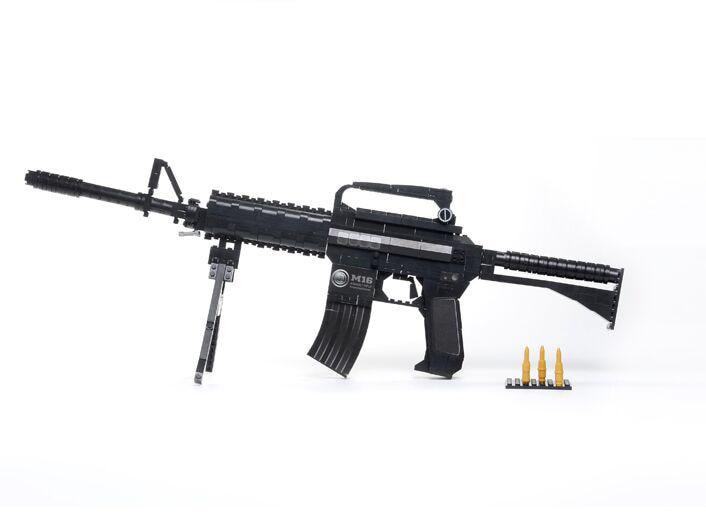 Learning & Education Ausini Building Blocks Gun Model Building Kits 524 Pcs Bricks Gun Model M16 Classic Gun Toys for Boys