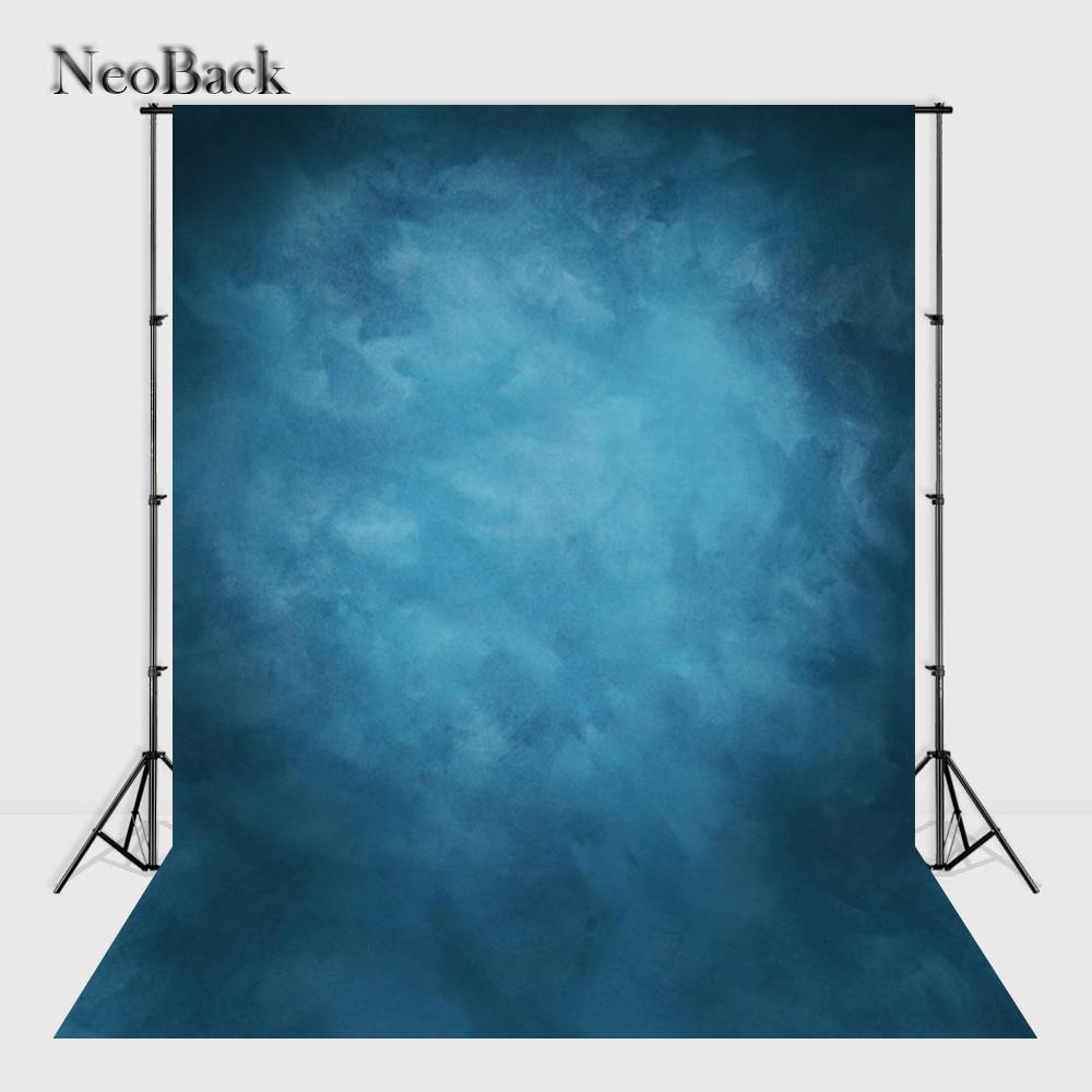 NeoBack 5X7 Vinyl Cloth Photography Backdrop Red Background Studio Misty Blue Portrait Photo Backdrop Wedding Backdrop P1410 8x10ft valentine s day photography pink love heart shape adult portrait backdrop d 7324
