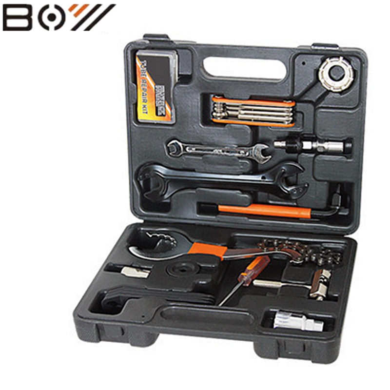 Bicycle tools for the maintenance of mountain bike repair tool combination tool set bicycle repair tool 44pcs set mountain bike patchs maintenance repair box diagnostic tools kit valuables cycling chain case bicycle accessories