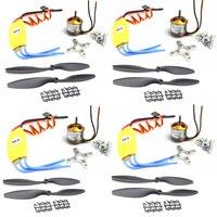 4pcs/lot 2212 1000KV Brushless Motor w/30A Brushless ESC +1045 Propeller for F450 F550 Quadcopter FPV Part