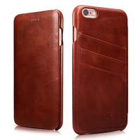 Classic Genuine Leather Full Screen Protective Flip Case Cover For Apple IPhone 6 6s Plus Wallet