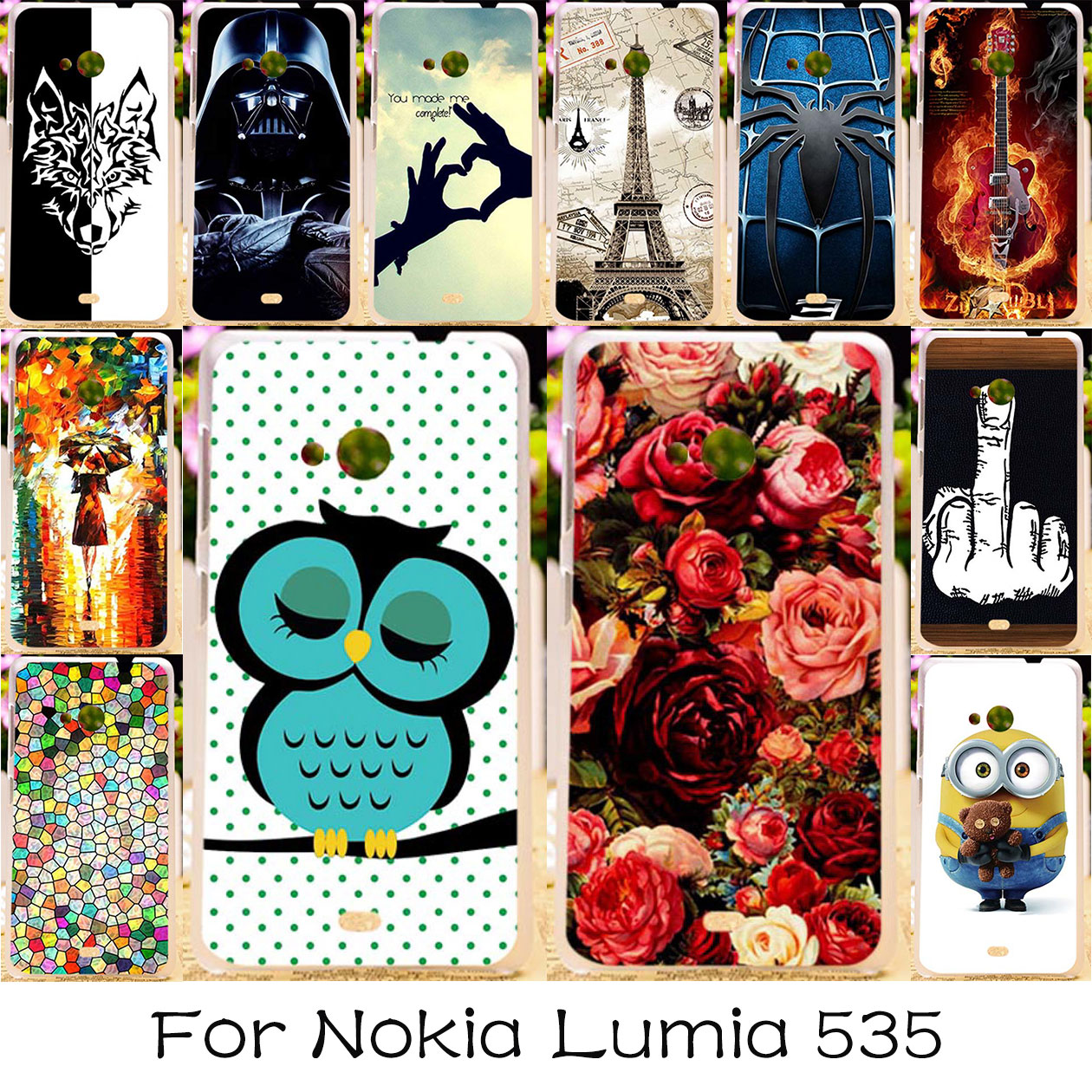 Galleria fotografica TAOYUNXI Phone Case For Lumia 535 Cases Silicone DIY Painted Patterned <font><b>Cover</b></font> For Microsoft <font><b>Nokia</b></font> Lumia 535 <font><b>Covers</b></font> Skin Bag Shell