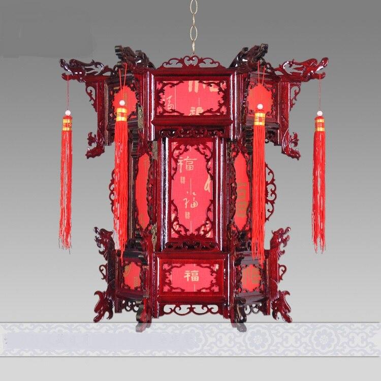 Доставка в китайском стиле шерстяные антикварные подвесные фонари свет шестигранный фонарь Балконный коридор огни «супружеские» лампы ZS79