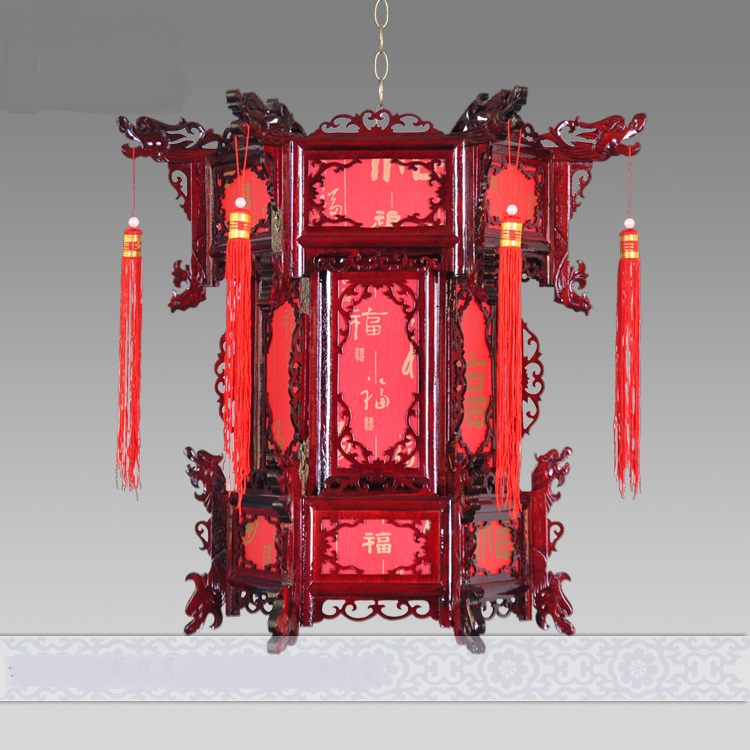 SHIPPING Chinese style wool antique lanterns pendant light hexagonal lantern balcony corridor lights married lamps ZS79