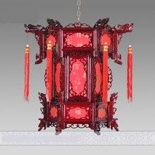 VERSCHIFFEN Chinesischen stil wolle antiken laternen anhänger licht sechseckigen laterne balkon korridor lichter verheiratet lampen ZS79