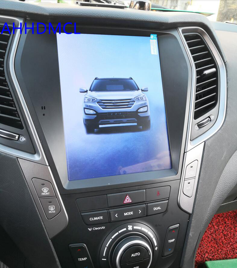 Car PC PAD Tesla Style Multimedia Player Android 7.1 GPS Navigation For Hyundai IX45 Santa Fe 2013 2014 2015 2016 2017