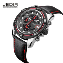 JEDIR Mens Watches Top Brand Luxury Men'S Sport Chronograph 6 Hands Date Function Casual Quartz Watch Diver Hour
