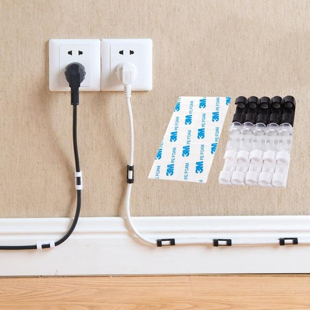 20 adet Tel Depolama Klipler Toka Yönetimi Organizatör Sabitleme kablo kelepçesi Kablo Konut Veri Hattı Bitirme Aracı Sabit dekor