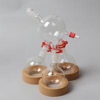 재고 있음 짧은 경로 액세서리 1 ~ 3 24/40 250 ml 둥근 바닥 플라스크