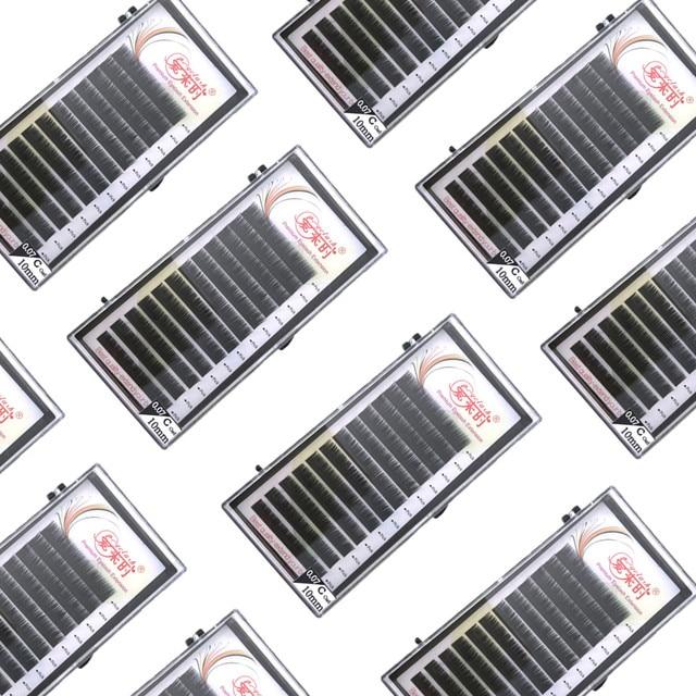 NEWCOME כל גדלים ריסים בודדים B C CC D טבעי ריסים מלאכותיים מינק קלאסי ריס לאש הארכת ריסים 0.03 0.25mm