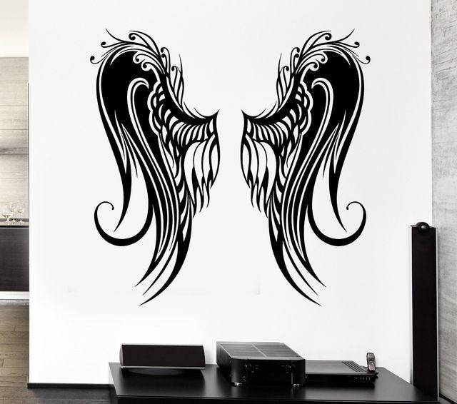 Wall Stickers Angel Wings Bird Flight Coolest Room Decor Vinyl Decal ...
