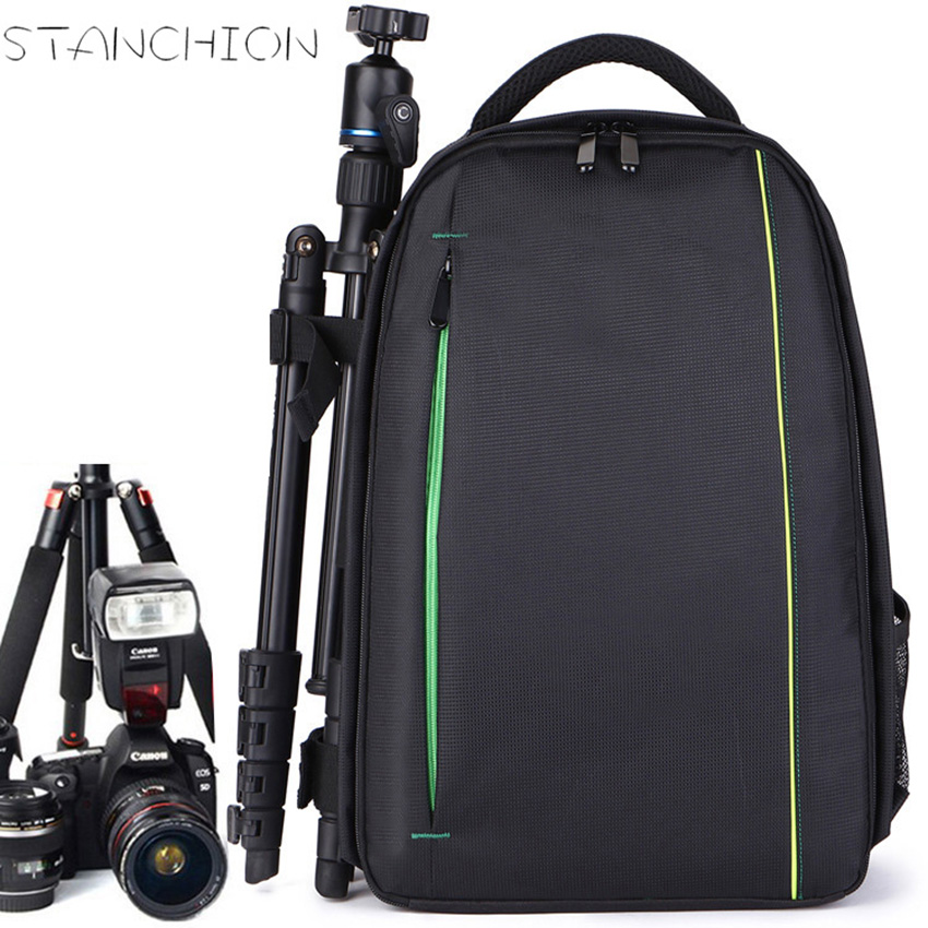 STANCHION Professional SLR Camera Backpack Photography Men and Women Travel Anti - theft Waterproof Computer Bag