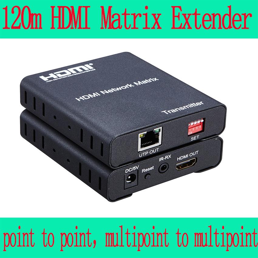 Prix pour 120 m HDMI Matrice Extender sur IP, Support multipoint à multipoint contrôle IR et 1080 P