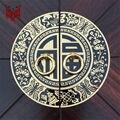 11 cm 14 cm 18 cm 22 cm Chinês mobiliário antigo, acessórios de cobre Gabinete Maçaneta Da Porta alça redonda doorplate de roupa do vintage