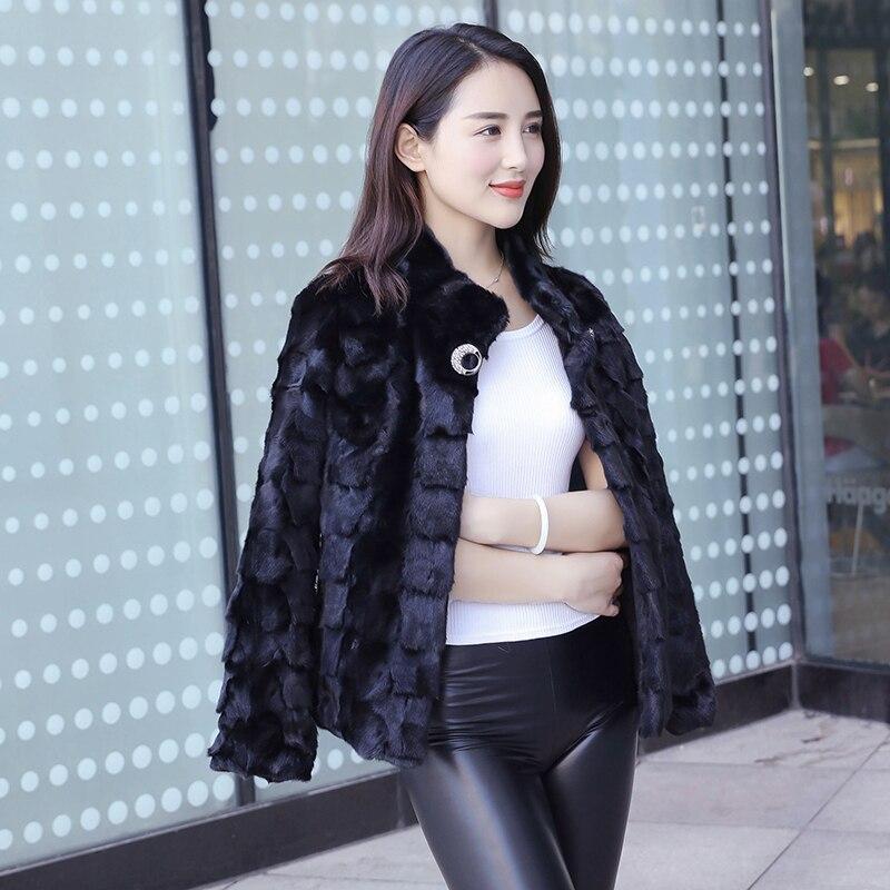 Kadın Giyim'ten Gerçek Kürk'de 2018 yeni kadın doğal gerçek adet vizon kürk ceket kadın kısa vizon kürk dış giyim'da  Grup 1