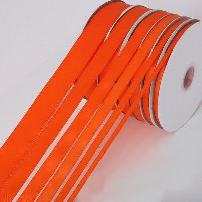 5 ярдов/рулон корсажные атласные ленты для свадьбы, украшения для рождественской вечеринки, самодельные ленты для поделок, открыток, подарочных упаковочных принадлежностей - Color: Orange Red