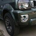 Projetos novos Acessórios Do Carro para ABS Cromado Luz de Nevoeiro Da Frente Da Guarnição para Suzuki Jimny 12 + com Alta Qualidade