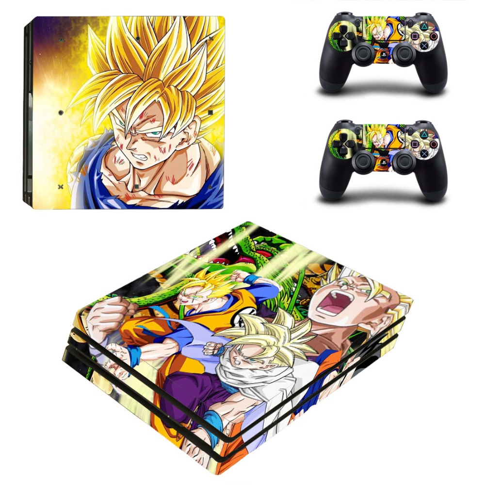 PS4 Pro Skin Sticker Cover For Sony Playstation 4 Pro Console&Controllers - DRAGON BALL Z