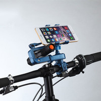 Multi Functions Mobile Phone Flashlight Holder 2 In1 Bicycle Motorcycle Handlebar 360 Degree Rotation Holder Phone