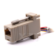 High Quality DB9 Female to RJ45 Female DB9 to RJ45 Adapter Connector rs232 modular cab-9as-fdte to rj45 db9 for Computer