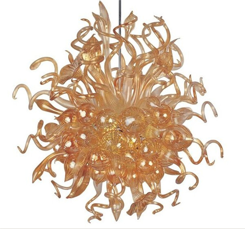 Free shipping amber hand blown murano glass art decor dale chihuly free shipping amber hand blown murano glass art decor dale chihuly chandelier for sale in chandeliers from lights lighting on aliexpress alibaba aloadofball Image collections