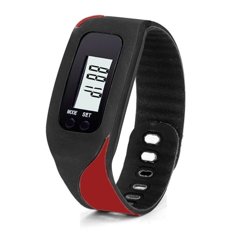 Electronic Watch Men women Digital LCD Pedometer