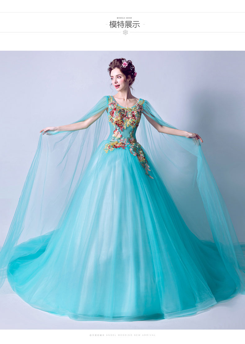 dream blue cosplay cloak ball gown medieval dress ball gown siss princess Gown queen Cosplay Victorian Belle ball