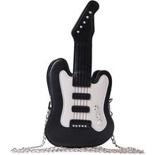 Bolso de mano de Piano musical para mujer, bolsas de mensajero cruzadas con forma de guitarra bonita, guitarra