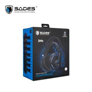 Image 5 - SADES Diablo Realtek Effect Gamer słuchawki RGB gamingowy zestaw słuchawkowy słuchawki z chowanym mikrofonem