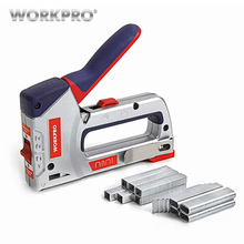 WORKPRO 4 IN 1 Heavy Duty Staple Gun Manual Nail Gun Furniture Nailer Stapler for Woodworking Staple Gun fivepears air nailer gun straight nail gun pneumatic nailing stapler furniture wire stapler f30