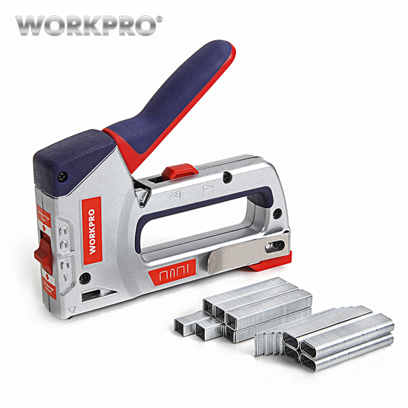 Workpro 4 IN 1 Riveter Gun Hand Riveter Heavy Duty Staple Gun Nail Staple Gun for WoodWorkpro 4 IN 1 Riveter Gun Hand Riveter Heavy Duty Staple Gun Nail Staple Gun for Wood