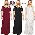 Explosão modelos irmã gordura mulheres de grande porte na europa e américa elegante evening banquet dress cheia do laço curto-de mangas compridas dress