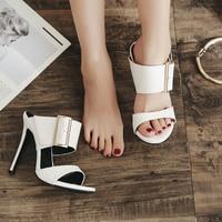 Woman Summer Shoes 2018 New Women 12.5cm Sexy White High Heel Sandals Open Toe Heels
