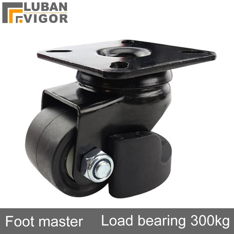 2 inch level adjustment feet Heavy foot master casters/wheel, Low center of gravity Support frame,High load, Casters