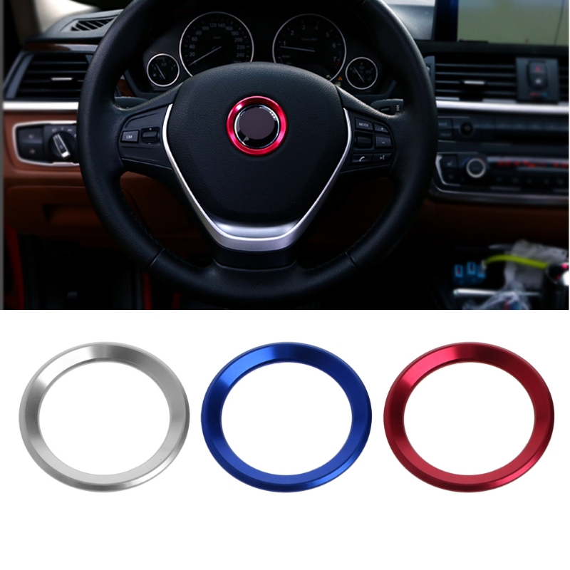 1Pc Car Steering Wheel Decoration Circle Cover Sticker For BMW X1 E60 E36 E39 E46 E30