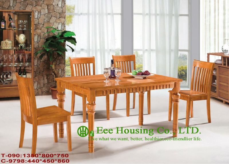 T-090,C-9798  Solid Dining Chair And Tables,Solid Wood Dinning Table Furniture With Chairs/Home Furniture